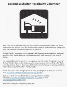 NEEDED:  Shelter Volunteers